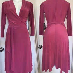 Jill Alexander: Pink Wrap Dress